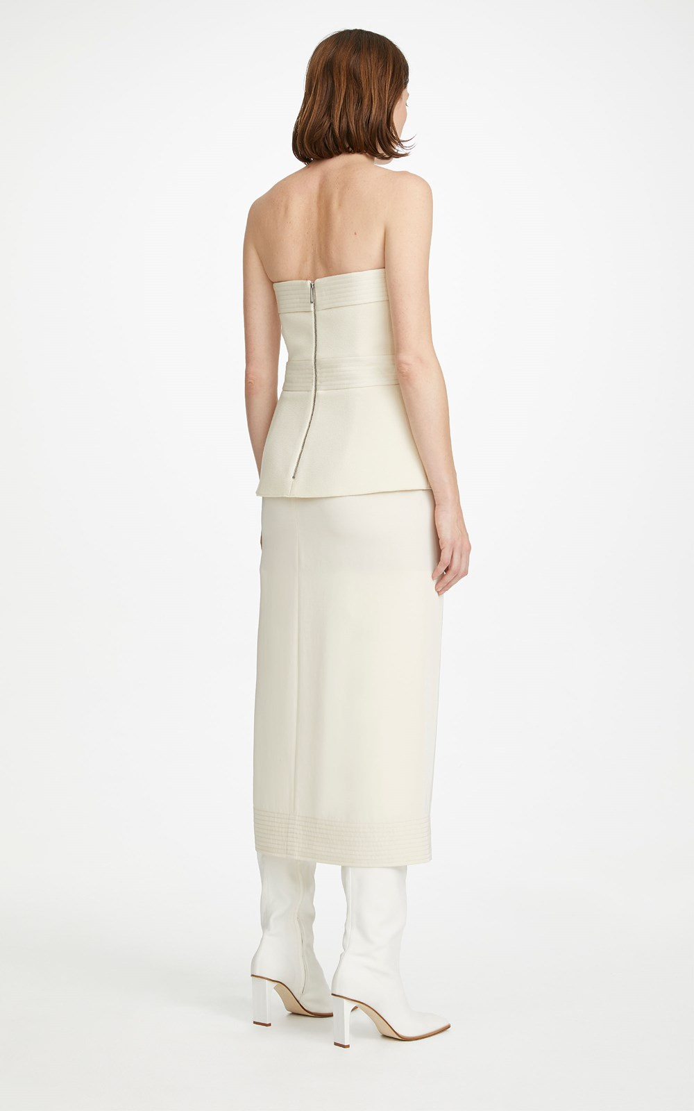 All  | BELTED STITCH STRAPLESS DRESS