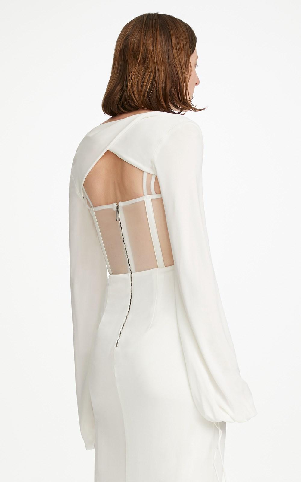 Dresses | VISCOSE JERSEY TWIST CORSET DRESS
