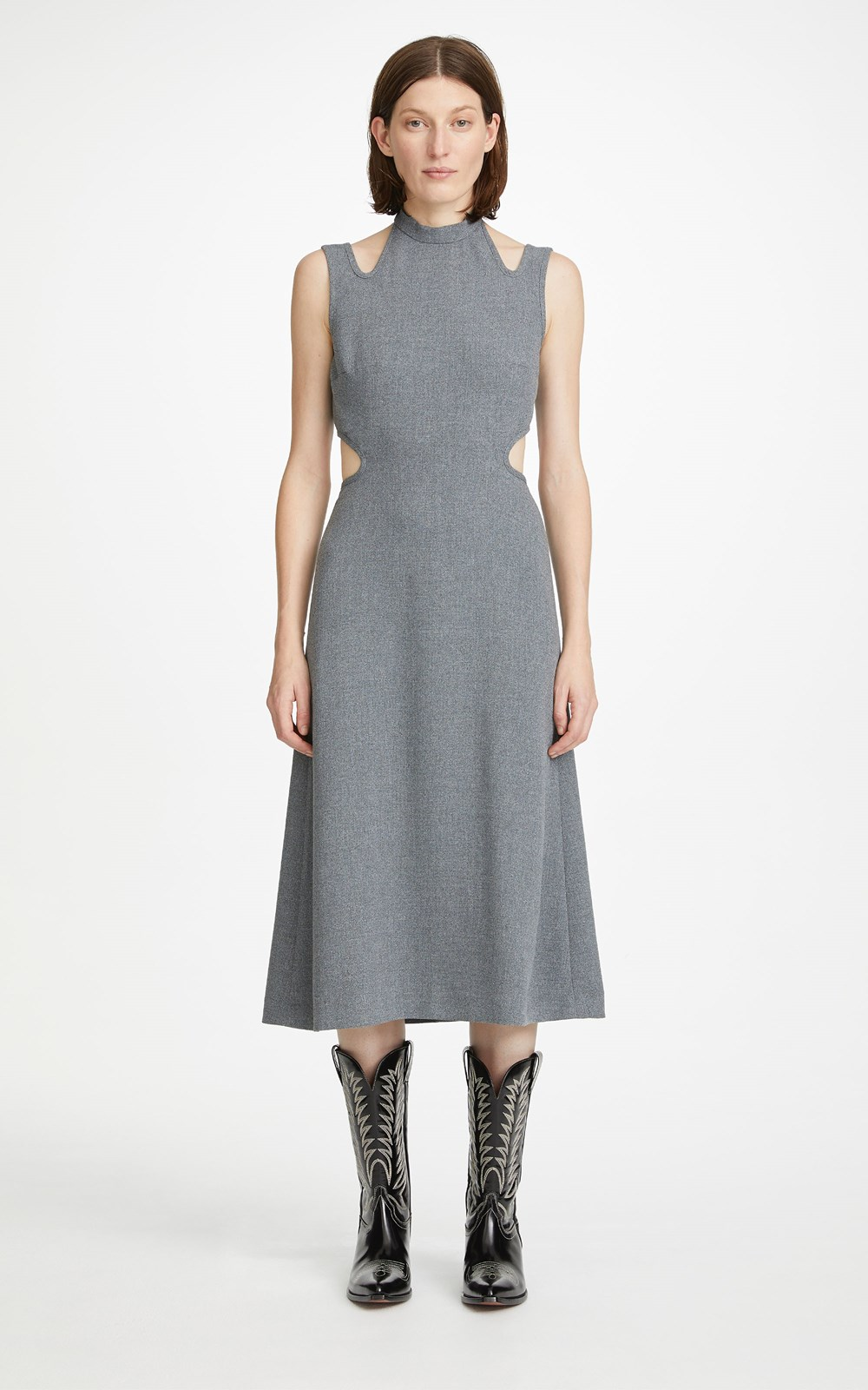New  | DOUBLE TIE MARLE DRESS