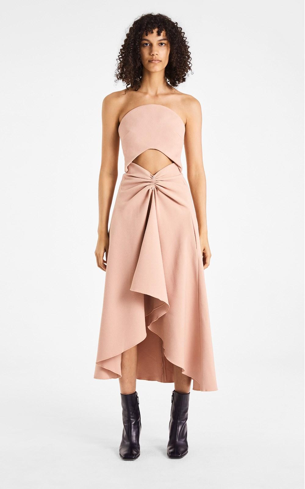 Dresses | PIERCED CREPE CONCAVE DRESS