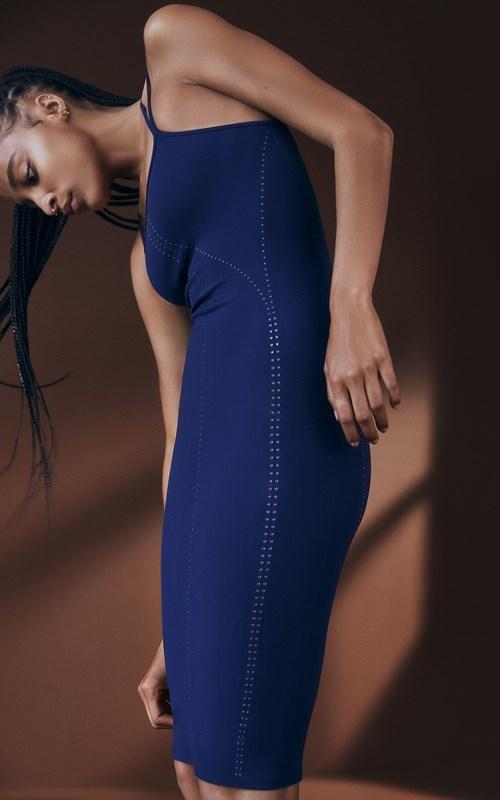 ACTIVE   SEAMLESS MESH CONTRAST DRESS