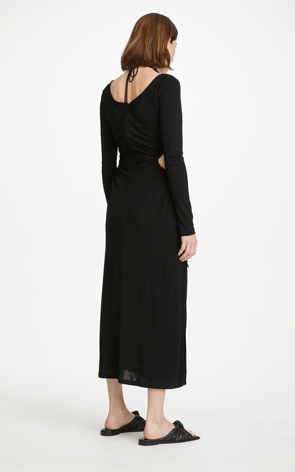 Dresses | DOUBLE TIE VISCOSE JERSEY GATHER DRESS
