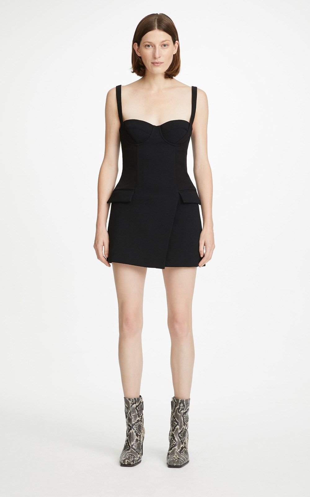 Dresses | BELTED STRAP BUSTIER MINI DRESS