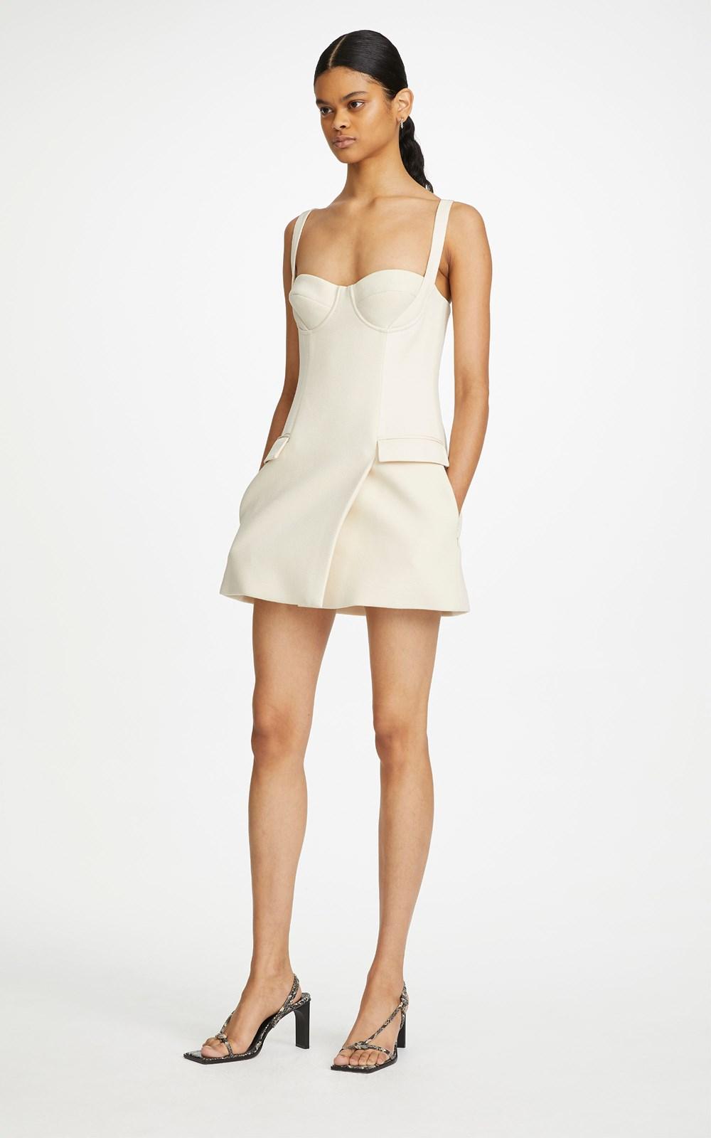 Dresses | BELTED STRAP BUSTIER MINI DRESS
