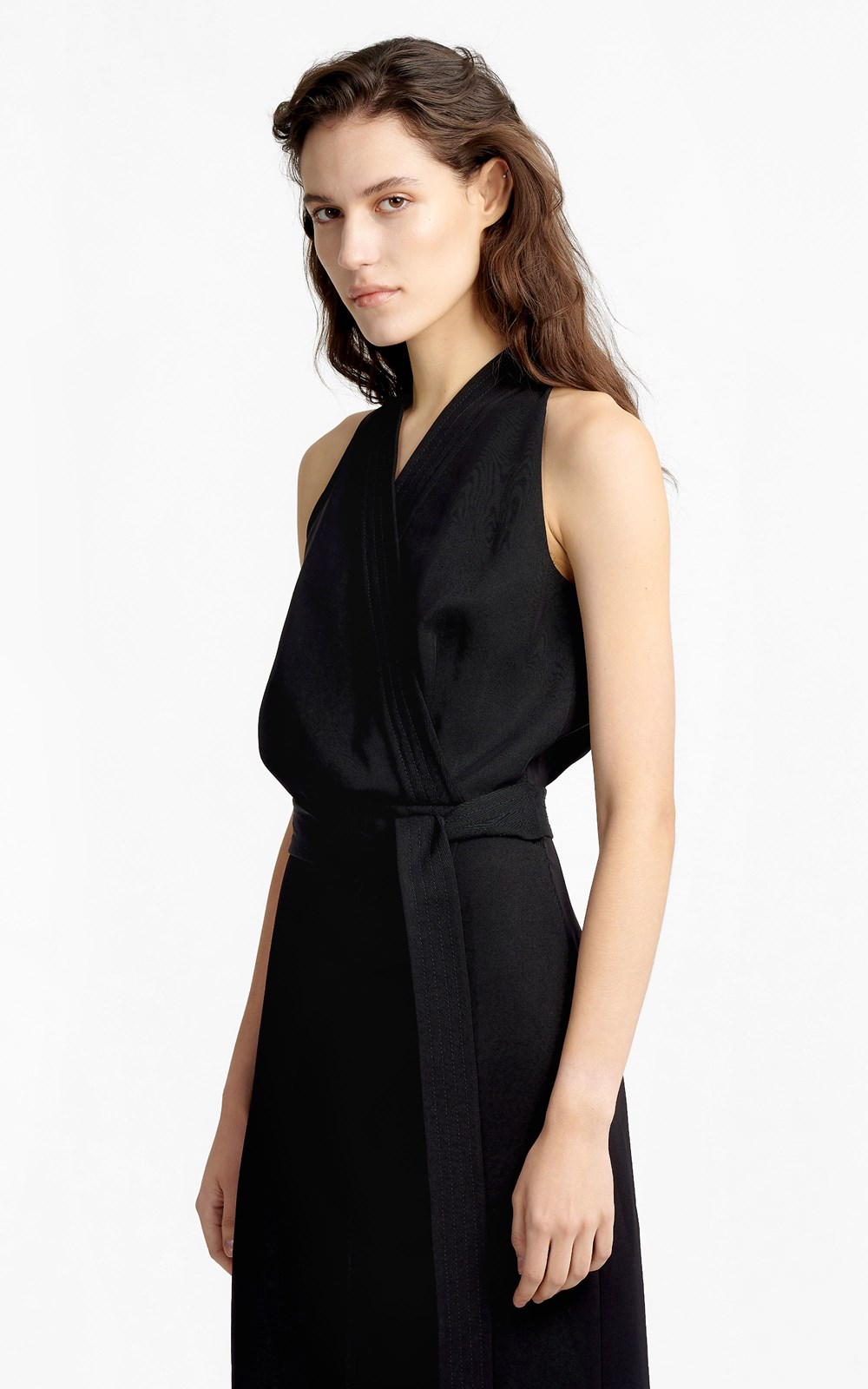 Dresses | DRAPE TWILL WRAP DRESS