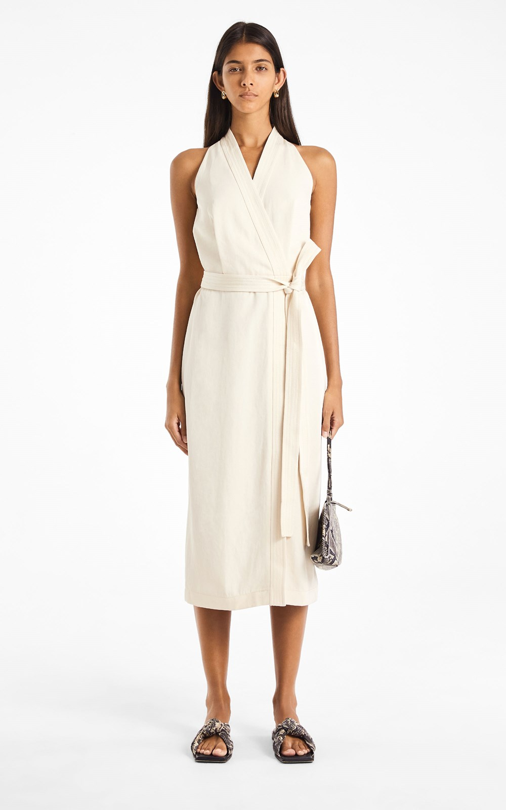 All | DRAPE TWILL WRAP DRESS