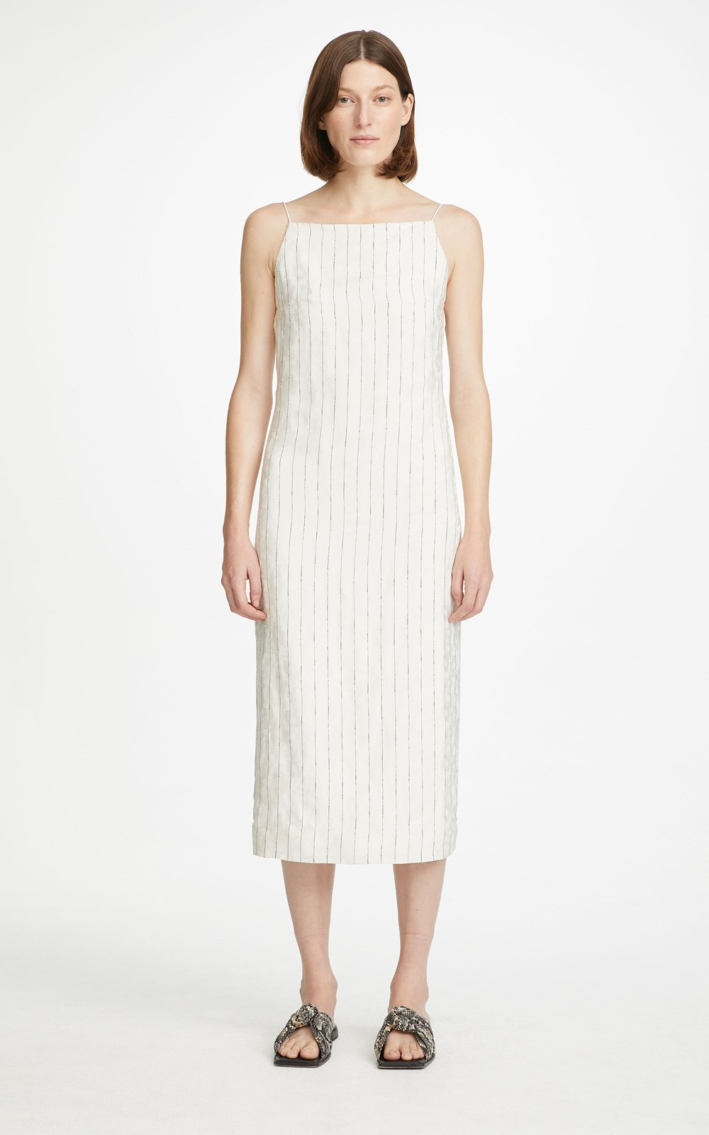 All | PINSTRIPE SLIP DRESS