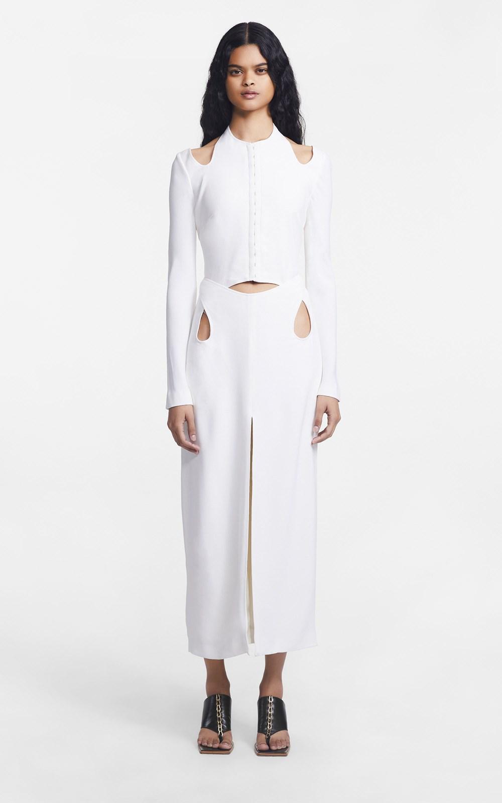New  | DOUBLE LOOP LS DRESS