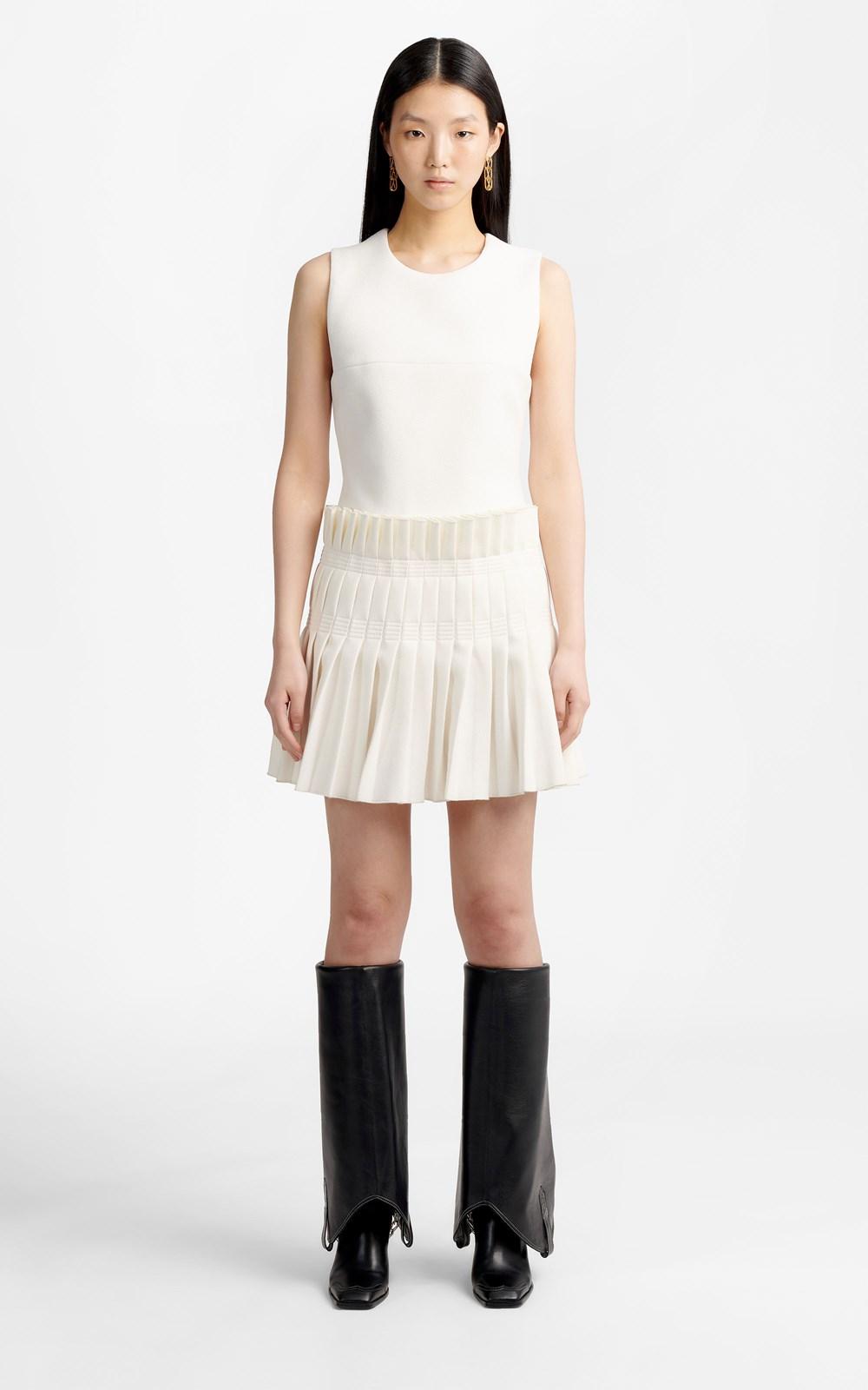 New  | STITCH PLEAT MINI DRESS