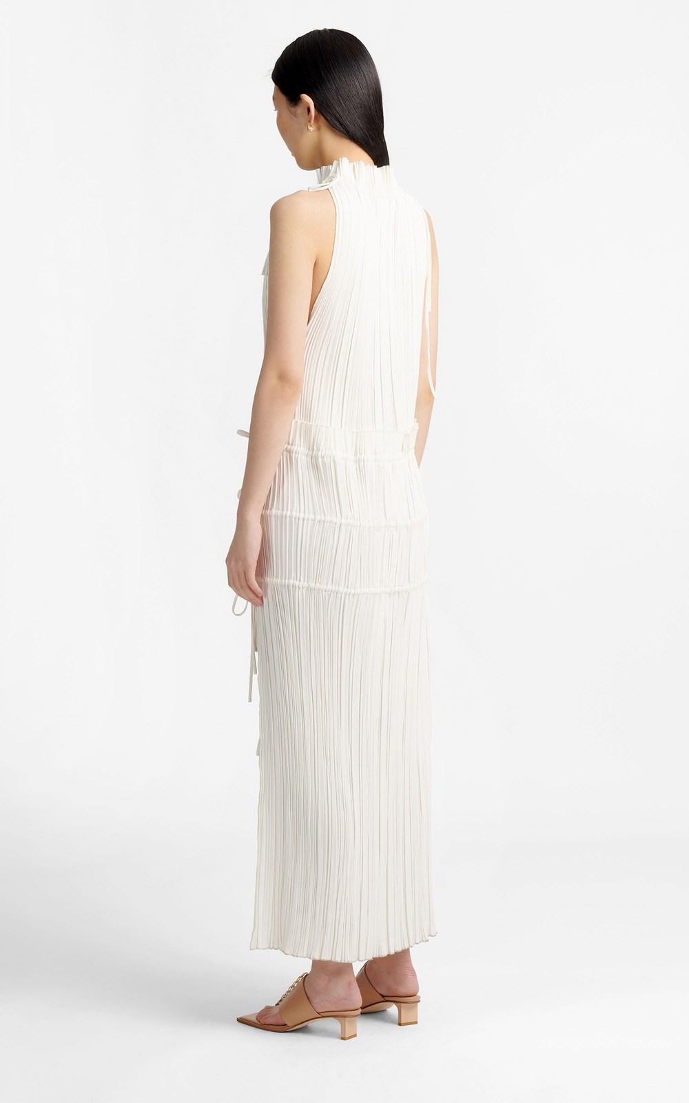 New   | CHANNEL PLEAT DRESS