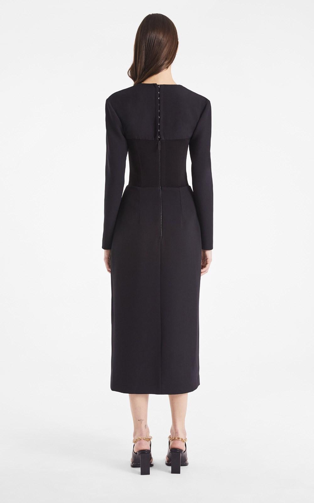 Dresses | OPEN NECK BUSTIER DRESS