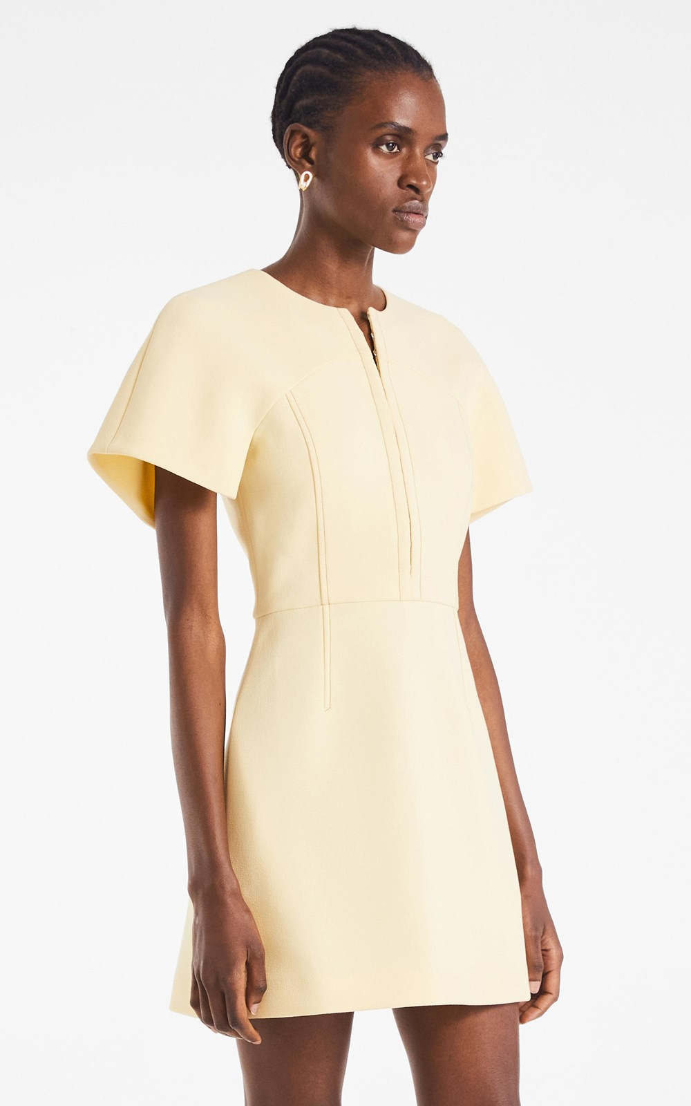 Dresses | HOOK & EYE CREPE MINI DRESS