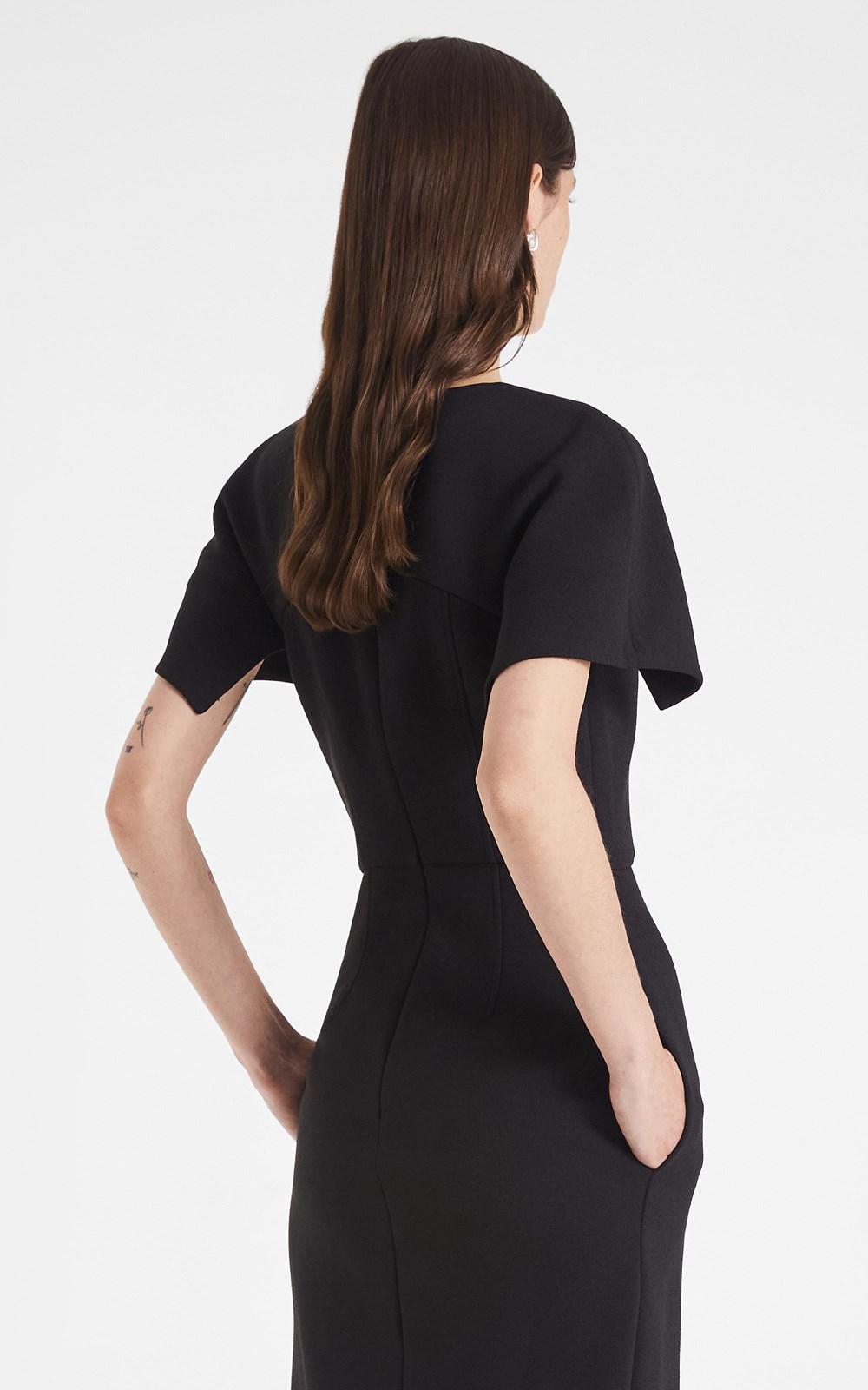 Dresses   HOOK & EYE CREPE SHIFT DRESS