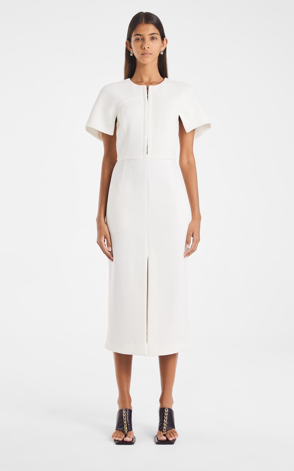Dresses | HOOK & EYE CREPE SHIFT DRESS