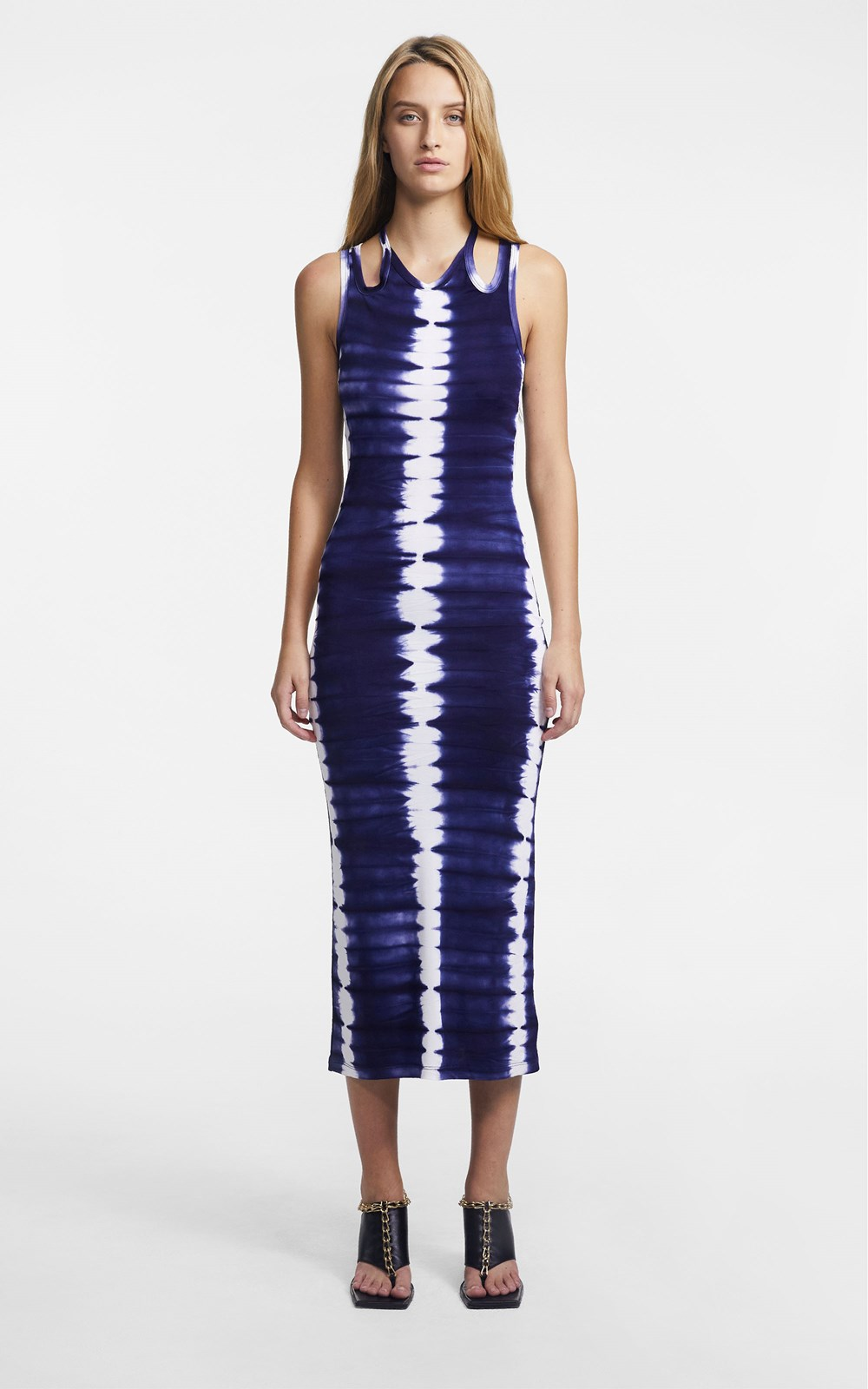 Dresses | HAND DYED SHIBORI HALTER TIE TANK DRESS