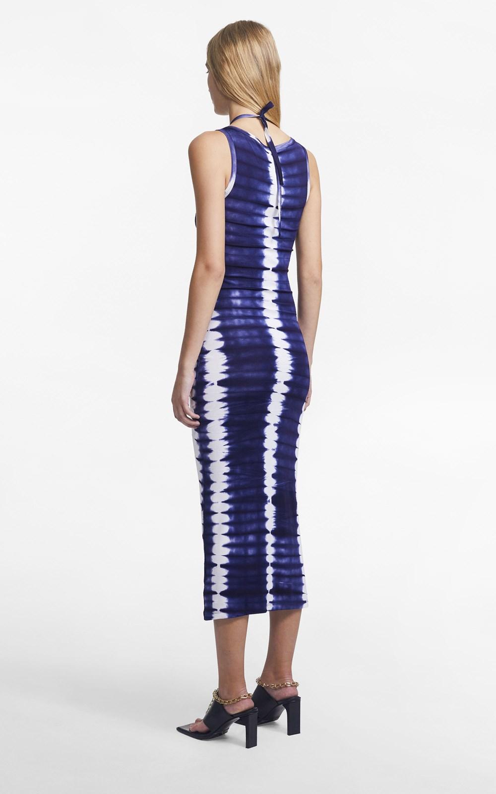 Dresses | HAND DYED SHIBORI HALTER TIE TANK DRESS