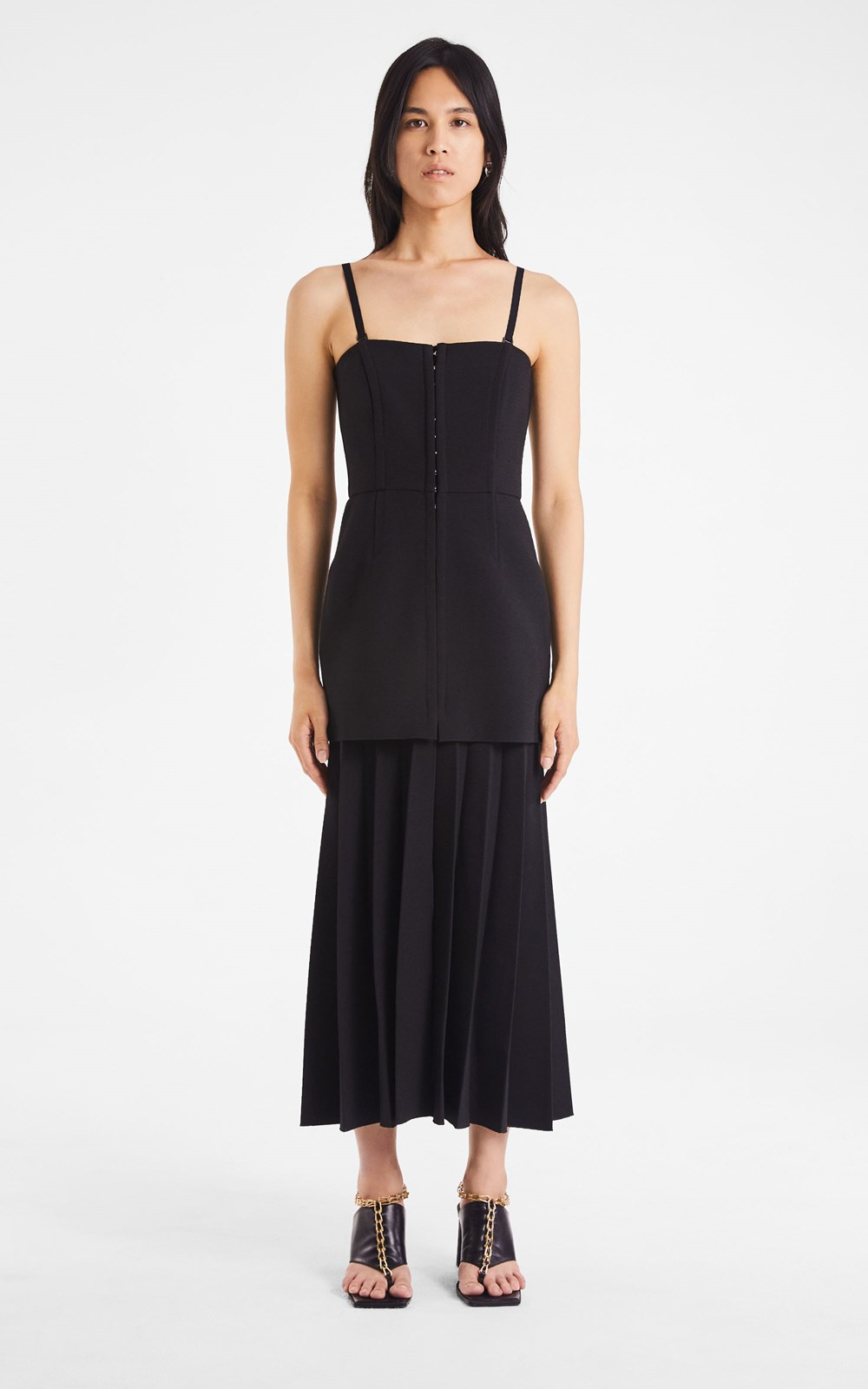 Dresses | HOOK & EYE PLEAT CREPE DRESS