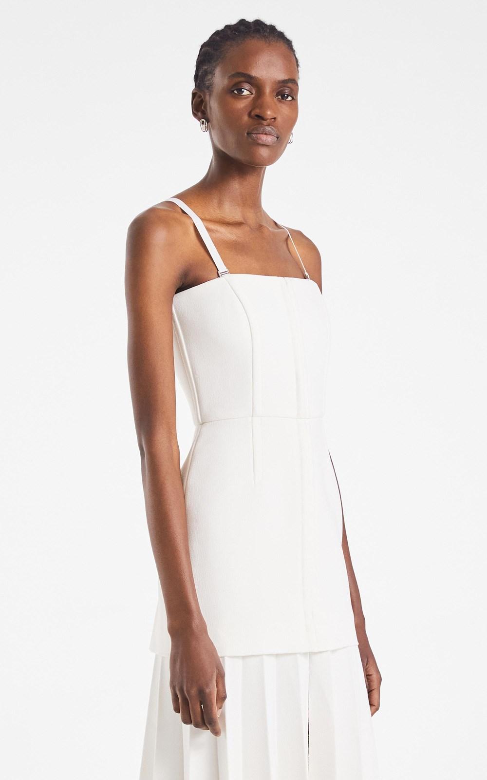 Dresses | HOOK & EYE PLEAT CREPE DRESS