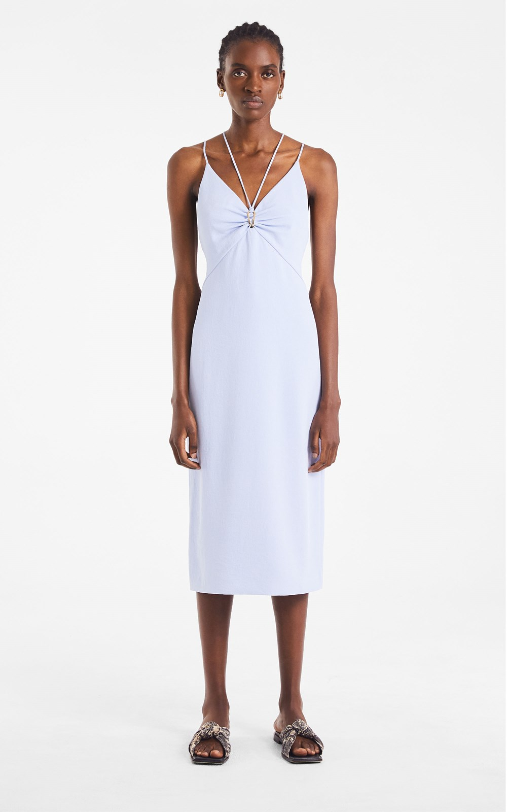 New  | WHITEWASH LINK SLIP DRESS