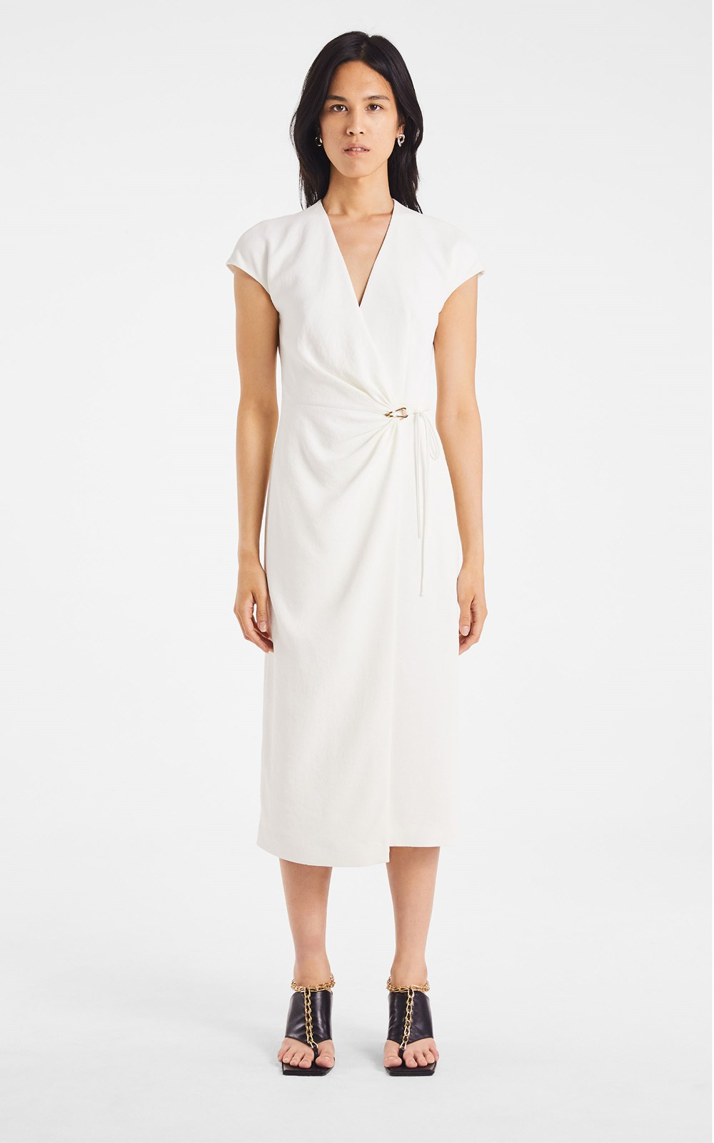 Dresses | WHITEWASH LINK WRAP DRESS