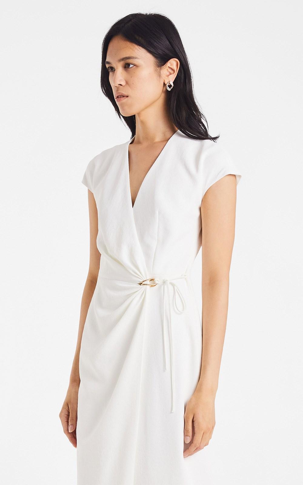 Dresses | WHITEWASH LINK WRAP DRESS