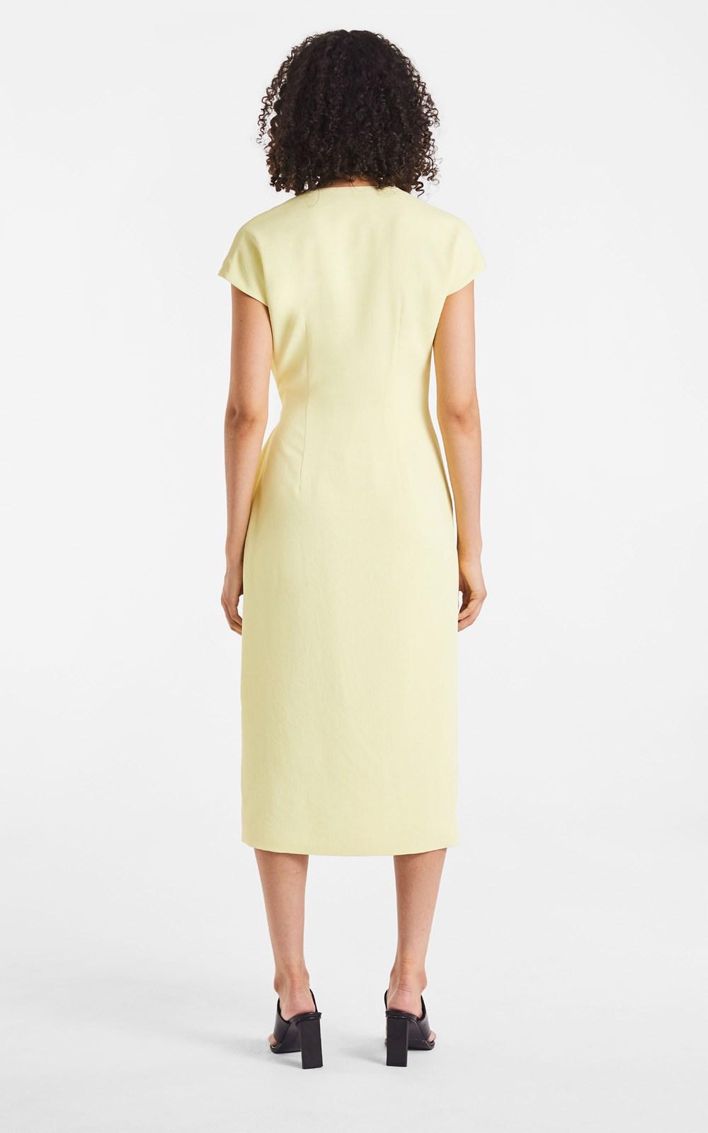 New   | WHITEWASH LINK WRAP DRESS
