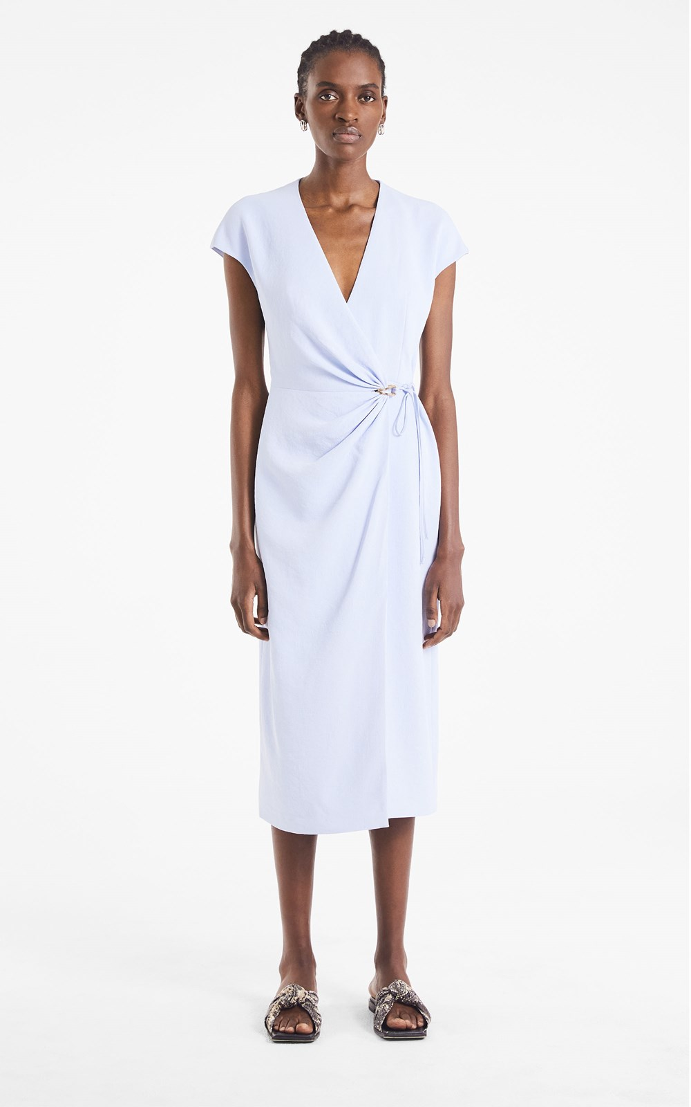 Dresses   WHITEWASH LINK WRAP DRESS