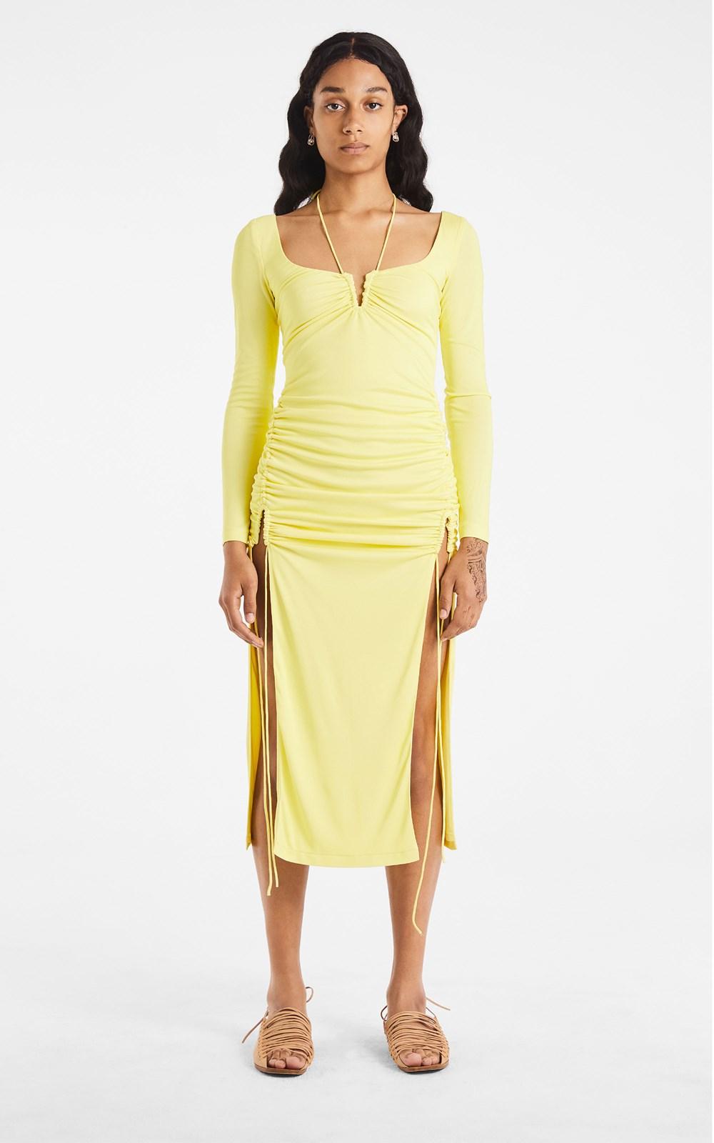 New  | SILK JERSEY WIRE DRESS