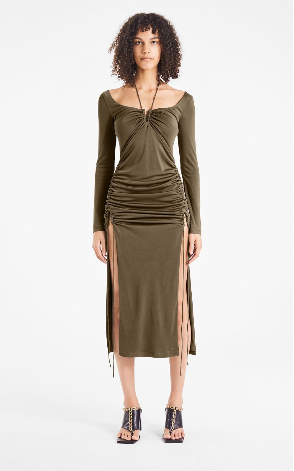 Dresses   SILK JERSEY WIRE DRESS