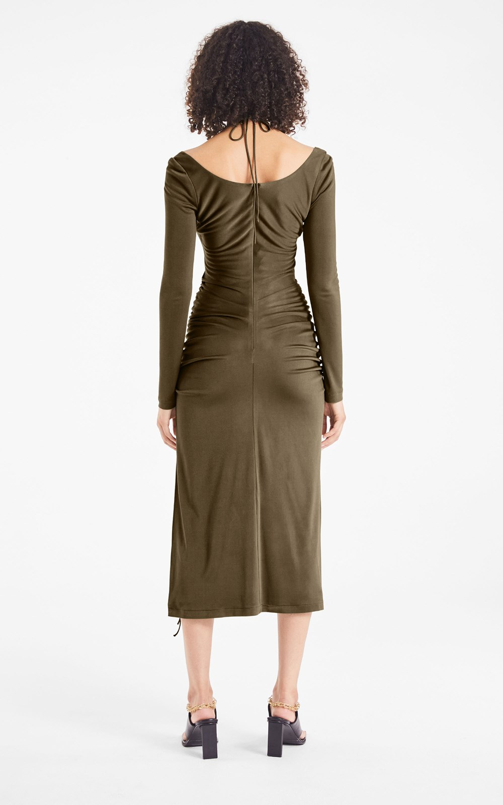 Dresses  | SILK JERSEY WIRE DRESS