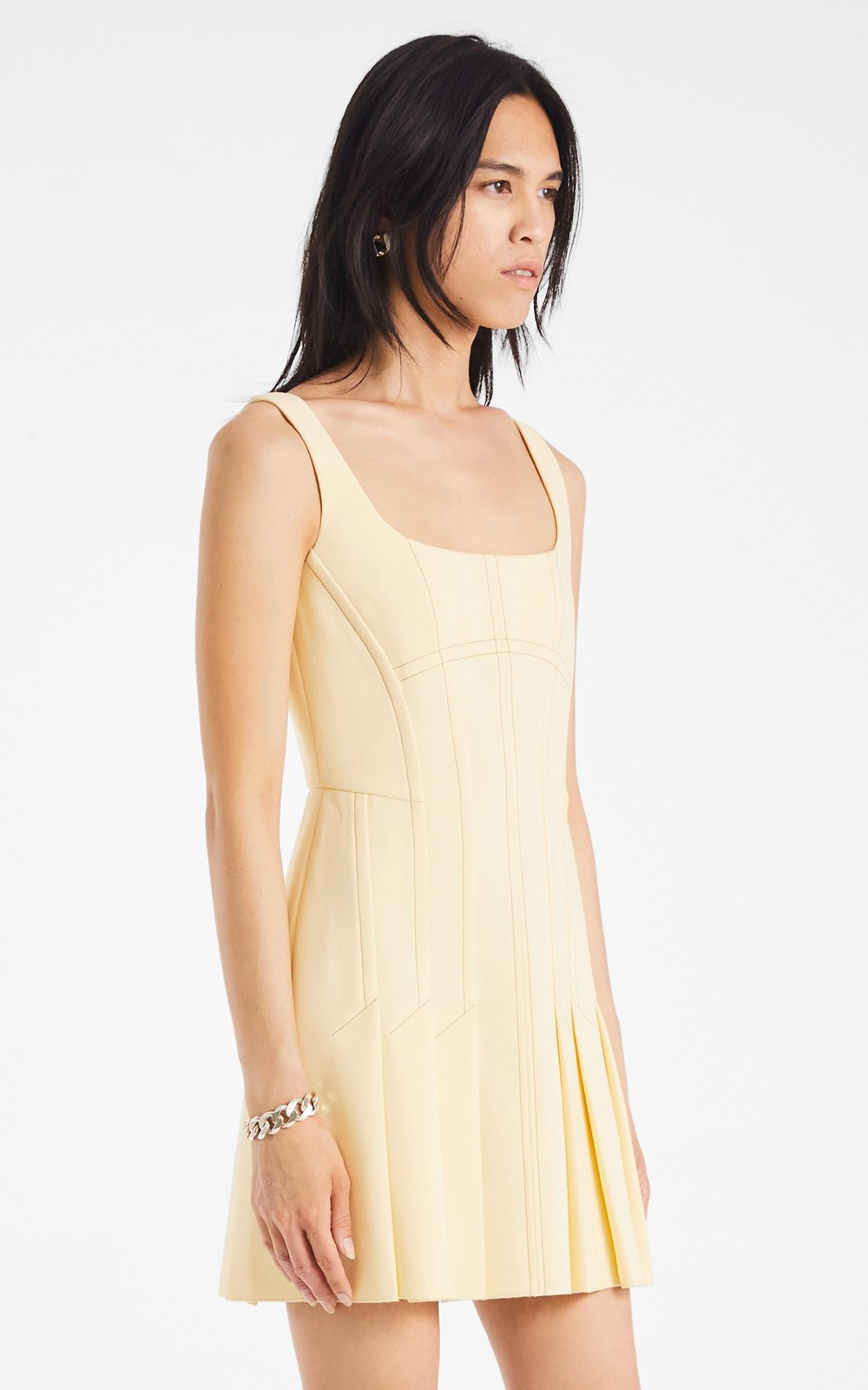 Dresses | CORSET PLEAT MINI DRESS