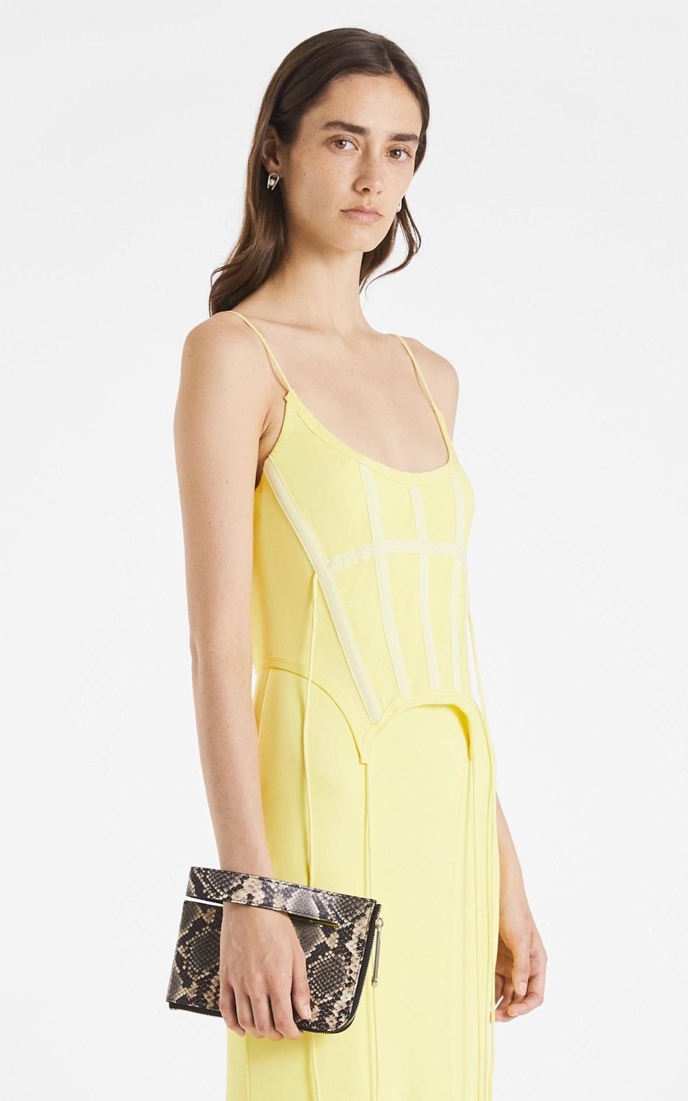 Dresses | SILK JERSEY CORSET DRESS