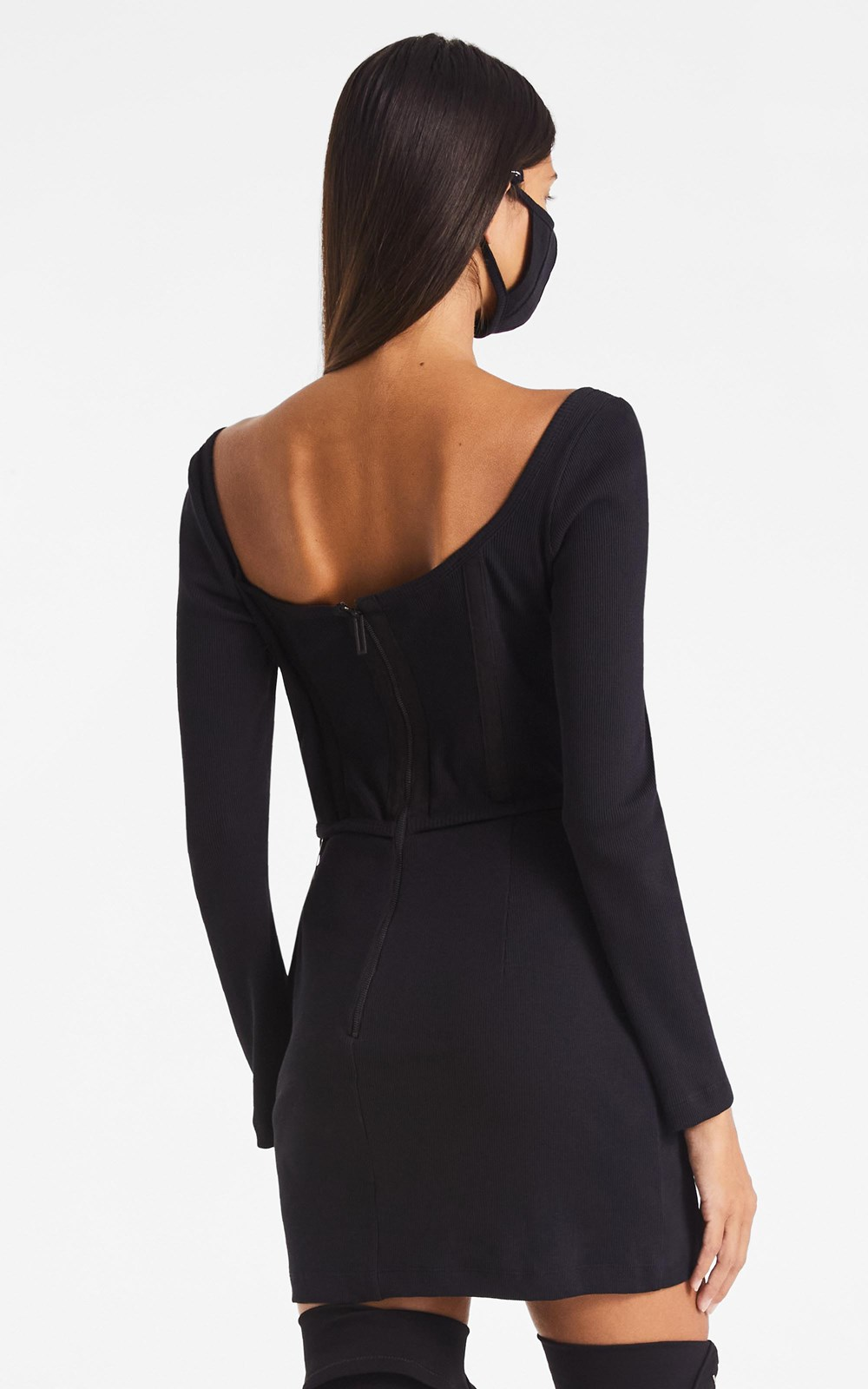 Dresses | RIB CORSET MINI DRESS