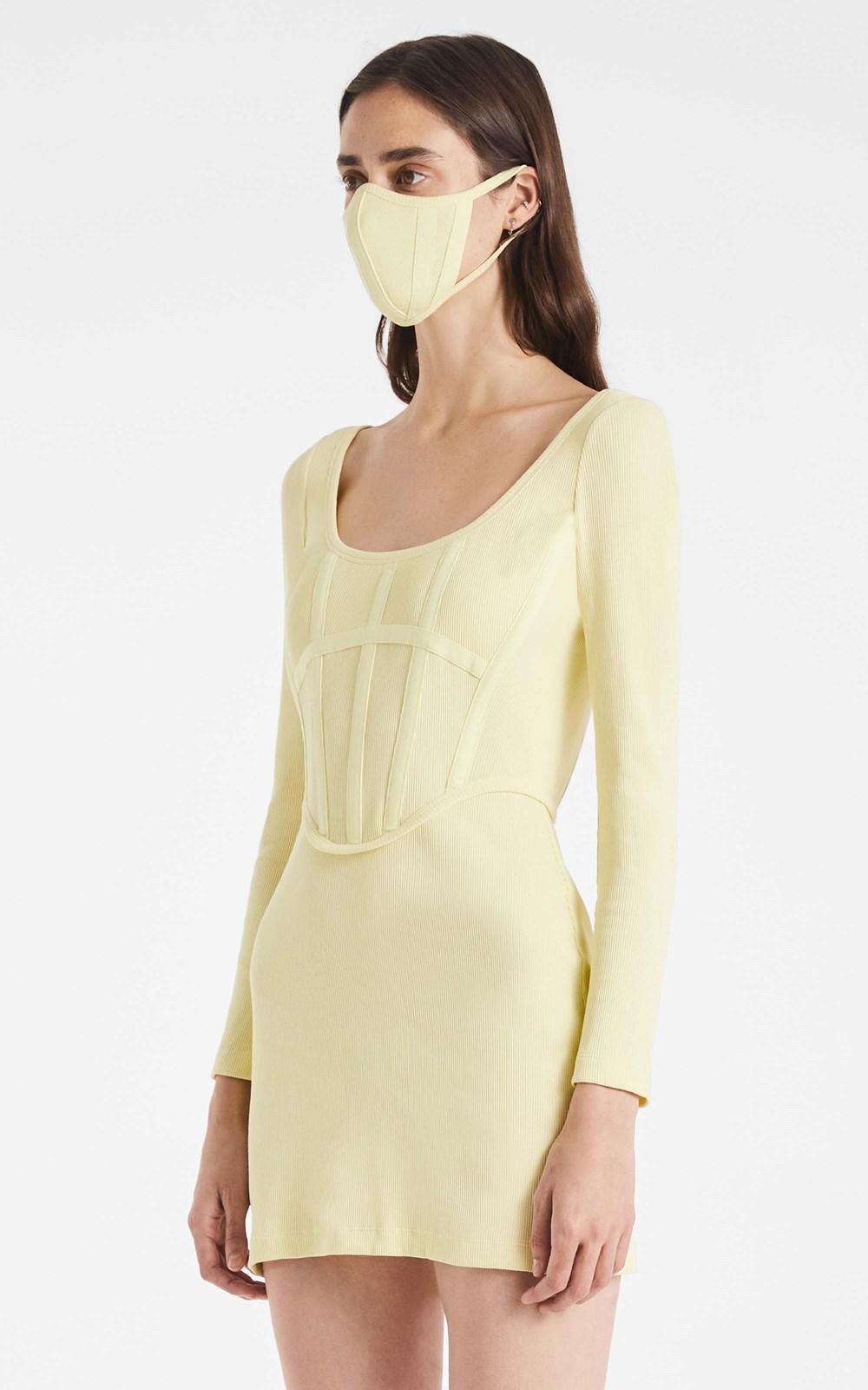 Dresses | RIB CORSET MINI DRESS