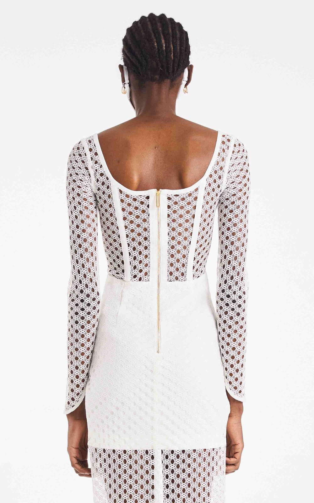 Dresses | CROCHET LACE LS DRESS