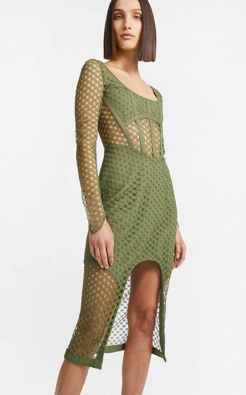 Dresses | CROCHET LACE LS DRESS