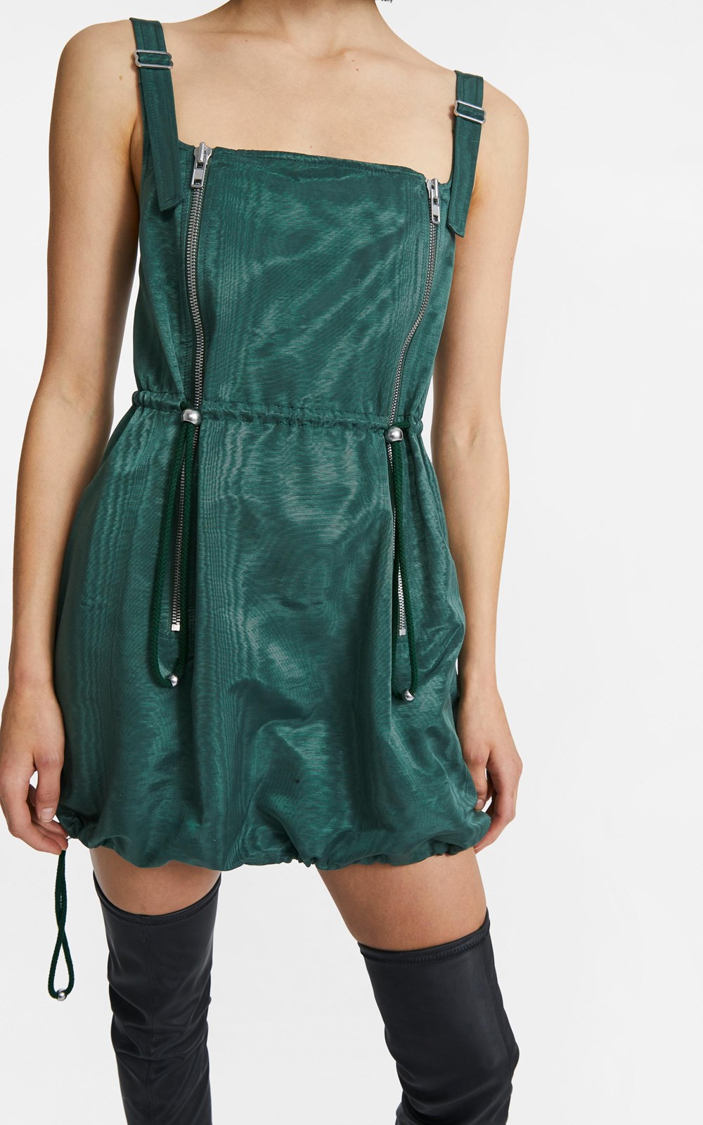 Dresses | ZIP BALLOON MINI DRESS