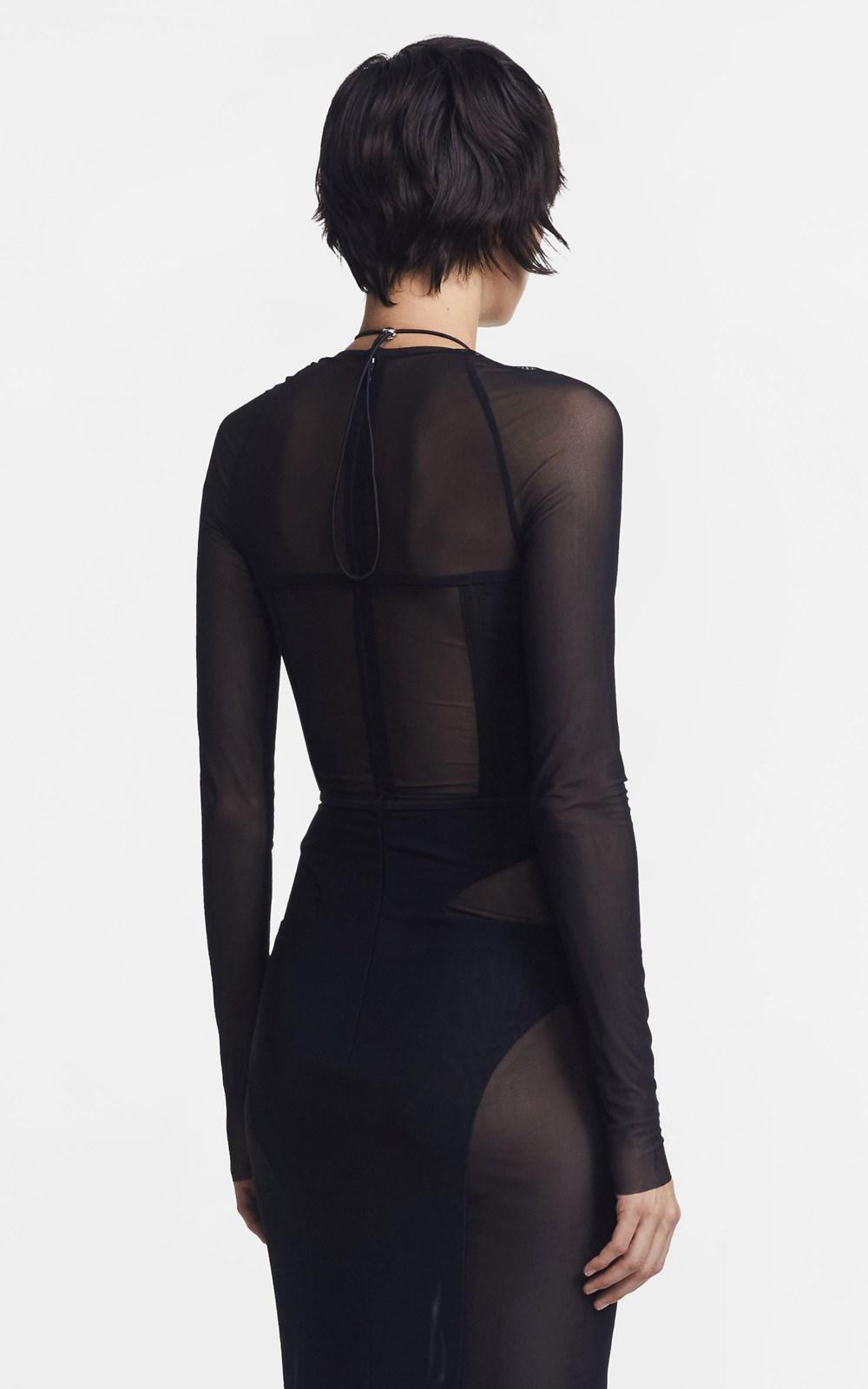 Dresses   POWERTULLE CORSET LS DRESS