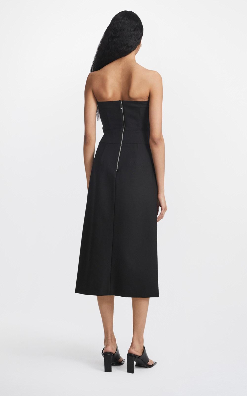 Dresses  | INTERLOCK STRAPLESS DRESS