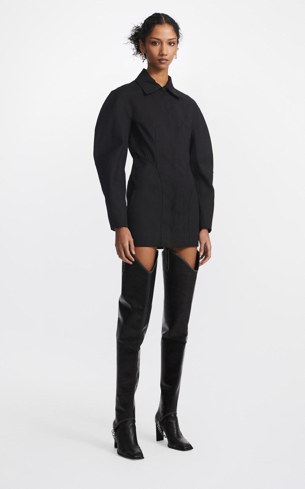 Dresses | CONTOUR STITCH COAT DRESS
