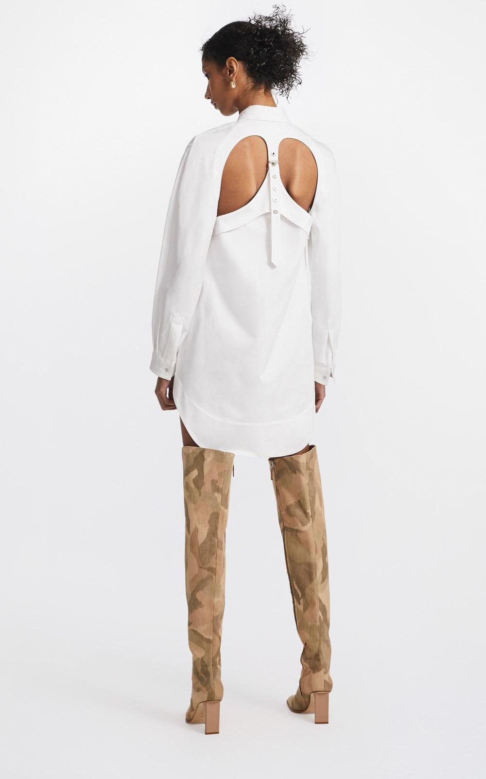 Dresses  | BELTED HARNESS SHIRT DRESS