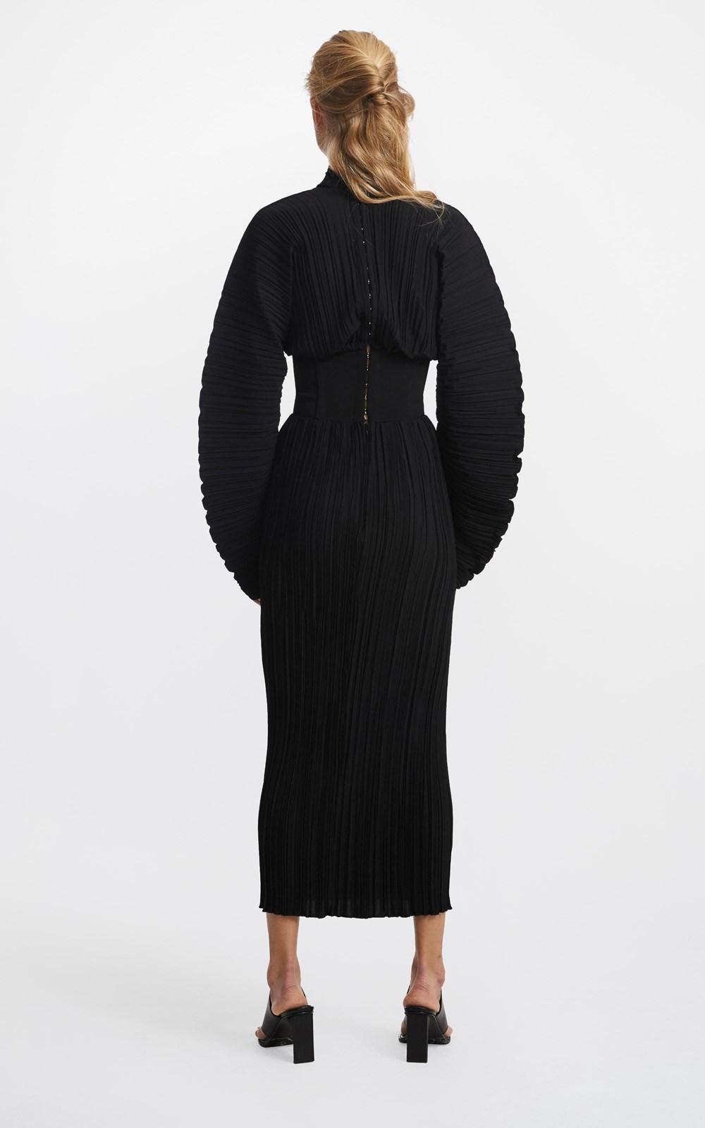 Dresses  | COCOON PLEAT CORSET DRESS