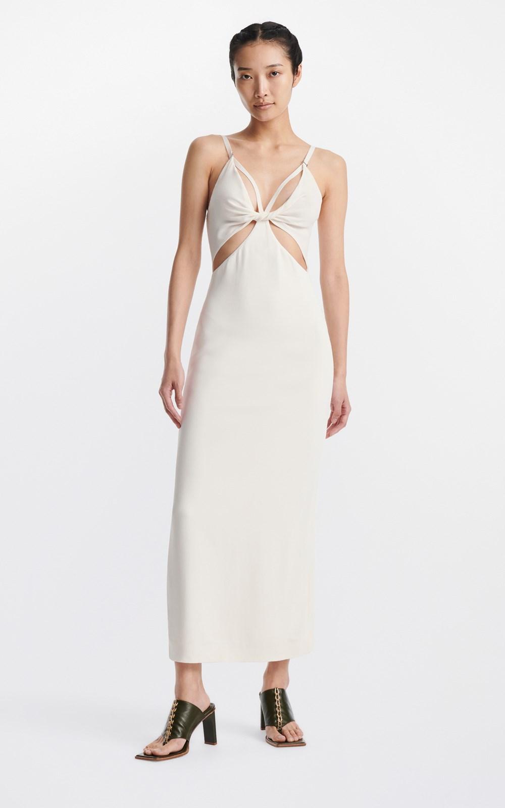 Dresses | SPLIT TWIST SLIP DRESS