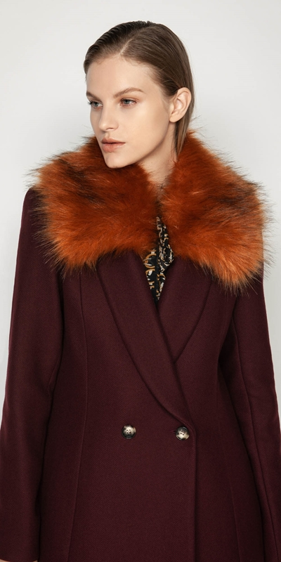 New Arrivals  | Copper Faux Fur Collarette