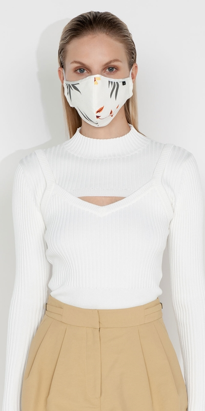 Accessories | Marigold Floral Face Mask