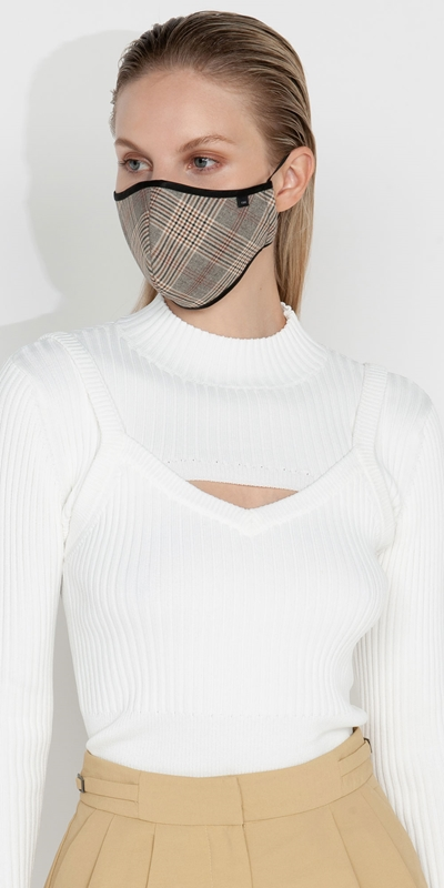 Accessories | Check Face Mask