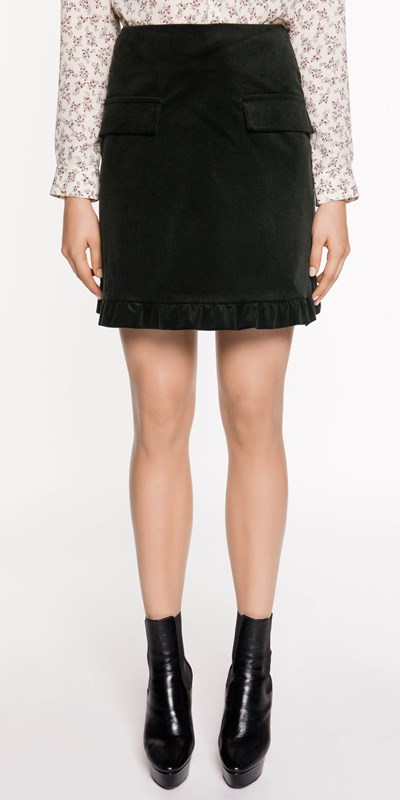 Sale  | Corduroy Frill Hem Skirt
