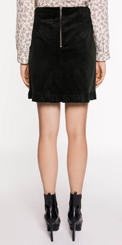 Skirts | Corduroy Frill Hem Skirt