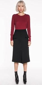 Skirts | Split Front A-Line Skirt
