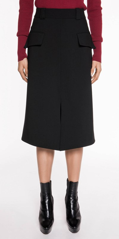 Sale  | Split Front A-Line Skirt